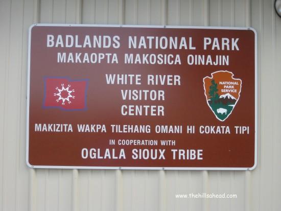 Badlands NP White River sign